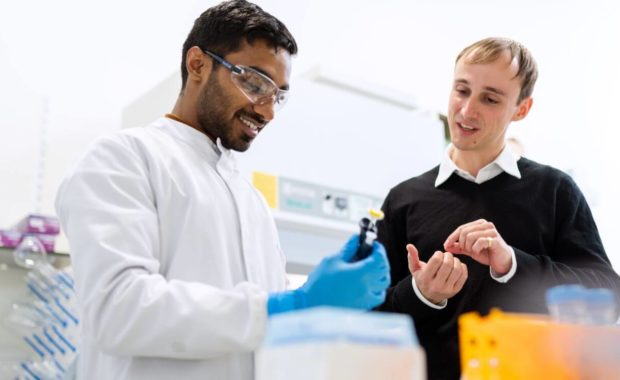 students in a lab for their biochemistry degree